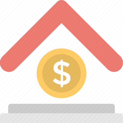 bank, house, mortgage, property value, value icon