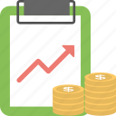 dollar, finance, growth, profit, stock exchange icon