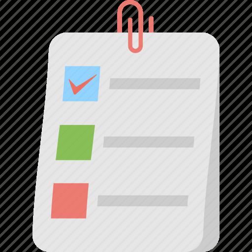 attachment, checklist, reminder, task, to do icon