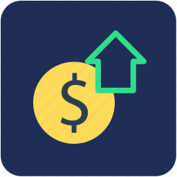 arrow, banking, dollar, finance, money icon