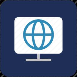 global, globe, map, tv icon