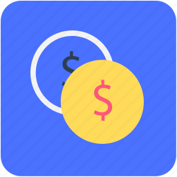 banking, coins, currency, finance, money icon