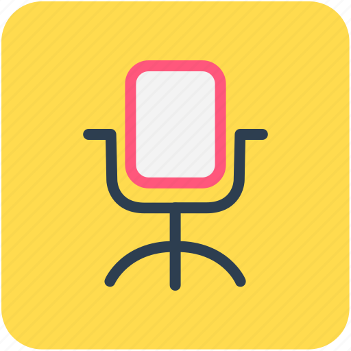 chair, office, office chair, swivel chair icon