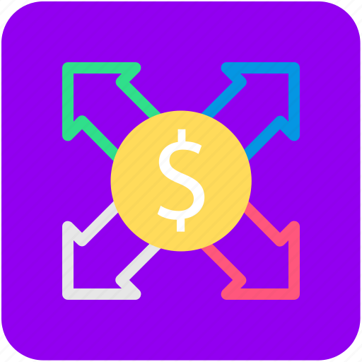 arrows, banking, currency, finance, money icon