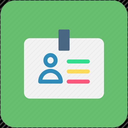 id card, identity, identity card icon