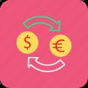 banking, currency convertor, dollar, euro, finance