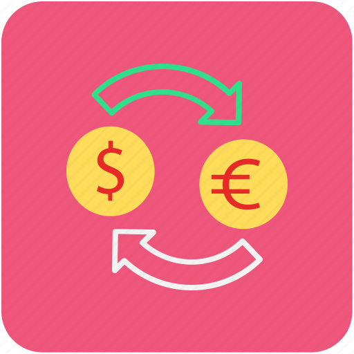 banking, currency convertor, dollar, euro, finance icon