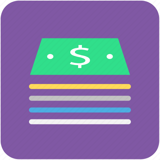 banking, currency, dollars, finance, money icon