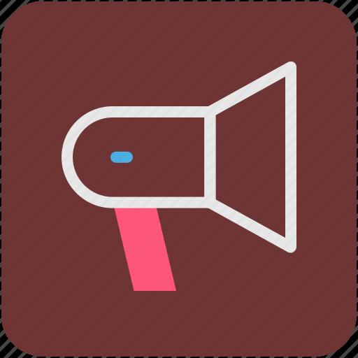 loud, loud hailer, megaphone, speaker icon