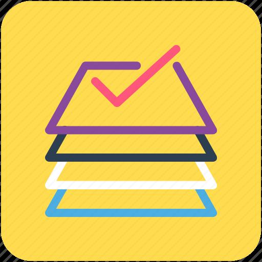 document, tick, tick mark icon