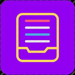 document, file folder, folder icon
