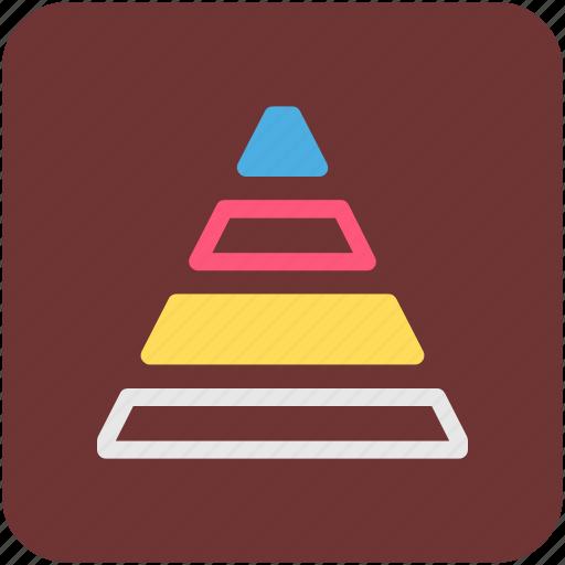 pyramid, signals icon