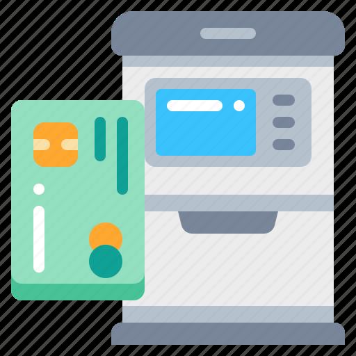 atm, card, credit, loan, machine, money icon