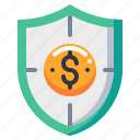 currency, insurance, money, protect, security icon