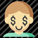 avatar, children, dollar, human, man, people icon