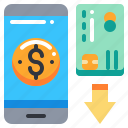 banking, card, credit, loan, mobile, money icon