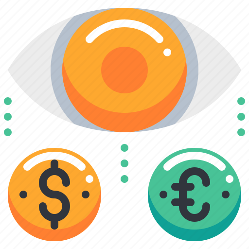 currency, dollar, euro, money, opportunity, search icon