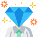 businessman, diamond, luxury, premium, service, success icon