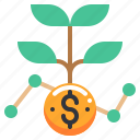 coin, currency, growth, money, wealth icon