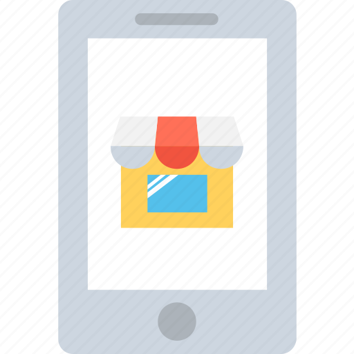 eshop, m commerce, mobile, online store, shopping app icon