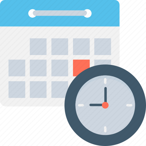 agenda, calendar, clock, schedule, timetable icon
