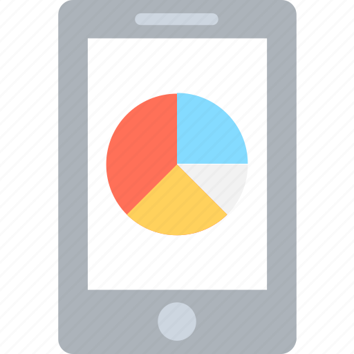analytics, graph, infographic, mobile, mobile graph icon