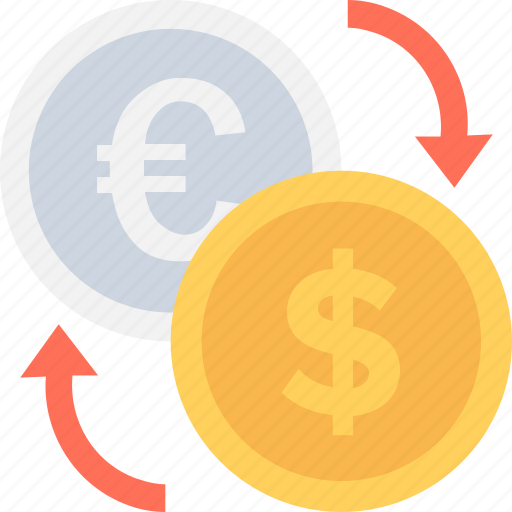 currency, currency exchange, dollar, foreign exchange, valuation icon