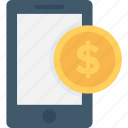 banking, dollar, mcommerce, mobile, mobile banking icon