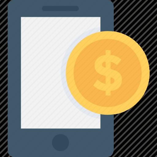 banking, dollar, mcommerce, mobile, mobile banking icon