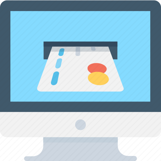 banking, credit card, e banking, monitor, online payment icon