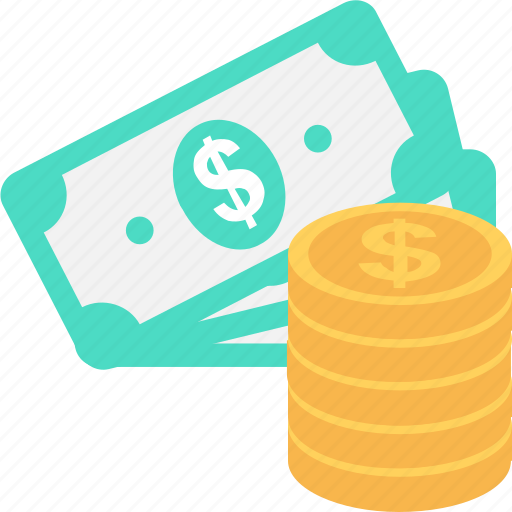 banknotes, currency, dollar, finance, money icon