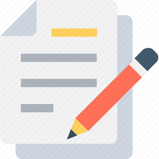 article, document, notes, pencil, writing icon
