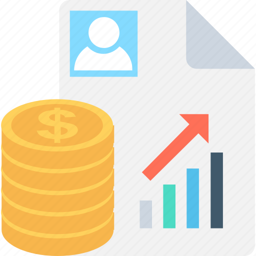 analysis, dollar, graph report, report, research icon