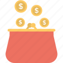 banknote, cash, dollar, purse, wallet icon