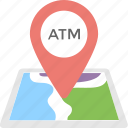 atm location, atm nearby, map, map pin, placeholder icon