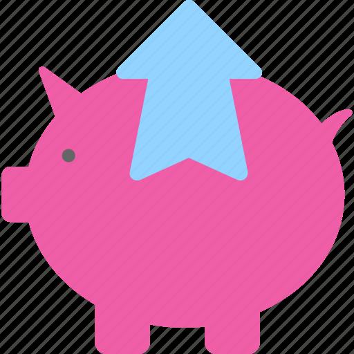 finance, money, penny bank, piggy bank, savings icon