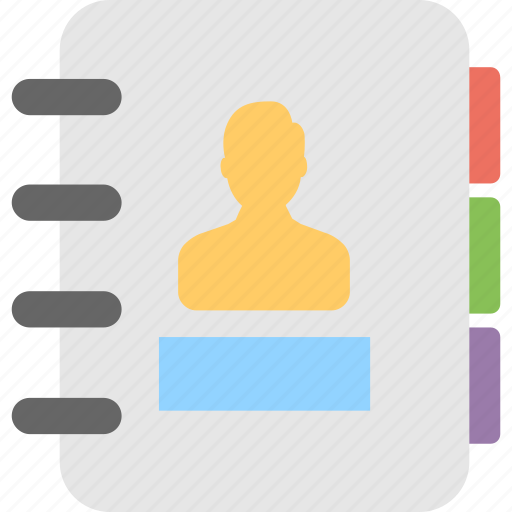 address book, contacts, directory, memo, phonebook icon