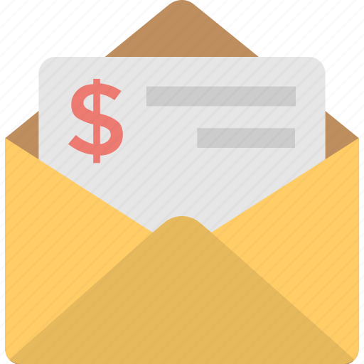 accounts, envelope, letter, report, sms banking icon
