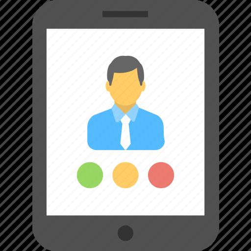 account, mobile, profile, smartphone, user icon