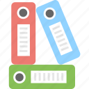 archives, binders, documents, files, folders icon