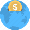 currency, global business, globe, money, trade