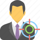 businessman, goal, marketing, seo, target icon