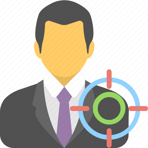 businessman, goal, marketing, seo, target icon