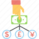 banknote, cash flow, currency, finance, money icon