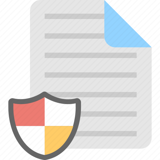 confidential, document, encryption, file, shield icon