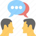 communication, consult, discussion, speak, talk icon