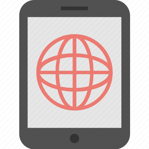 connection, globe, internet, mobile, mobile data icon