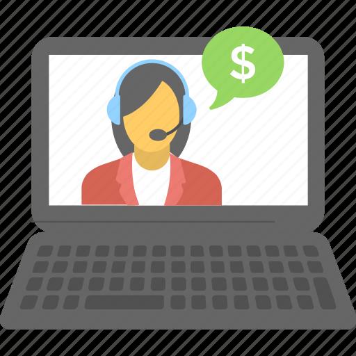 consultant, customer service, live chat, representative, support icon