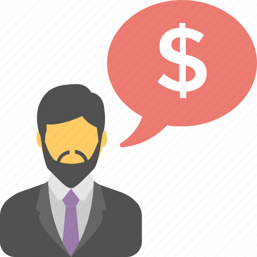 banker, businessman, financier, investor, marketer icon