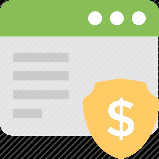 dollar, ebanking, online banking, payment, web icon